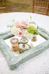 Romantic wedding centerpieces idea 6