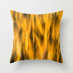 Sunset Wheat Throw Pillow by Don Hooper - $20.00