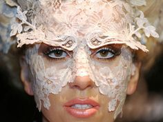 Gaga for this lace mask
