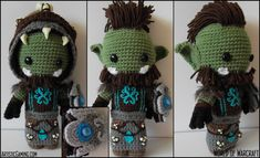 World of Warcraft - Orc Custom Sackdoll by ~GamerKirei on deviantART