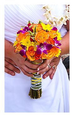 Tropical Bridal Bouquet By Stacy Photo Kenjic Studio
