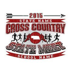 39ad67c77 High School State Cross Country Customizable Design: Cricket School & Team-  Custom Products for · Cross Country ShirtsCross ...