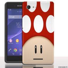#Coque 1UP #Rouge pour #téléphone #portable #Sony #E3 | #Accessoire téléphone portable Sony