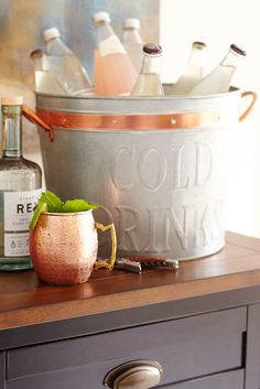Cold drinks and good conversation make for a great party, and Pier 1's Fritz Galvanized Beverage Tub gets you halfway there. Handcrafted and perfect for outdoor entertaining, all you need to do is add good conversation to get the party started.