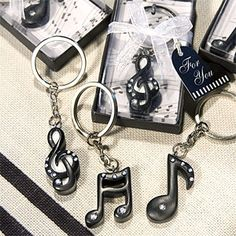 Musical Note Key Chain - Musical Theme Wedding Favors - Wedding Favor Themes - Wedding Favors & Party Supplies - Favors and Flowers