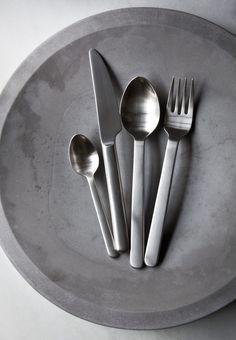 New Norm Tea Spoon in Brushed Steel design by Menu