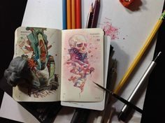 Number 344 of Kenneth Rocafort's 365 day sketch project. <3