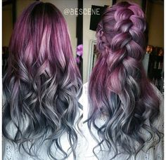 Purple/Grey ombré