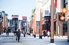Rovaniemi Town Center in Finland, Finnish Lapland, Photo by Jani Kärppä / Lappikuva #arcticshooting #filmlapland #lapland
