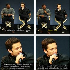 Sebastian Stan and Anthony Mackie....I would get along quite nicely with Sebastian :)