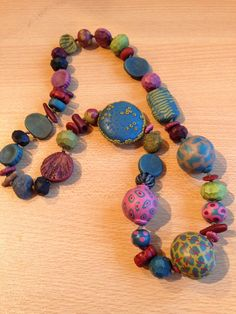 my mom's favorite necklace that she made- I love all the texture!
