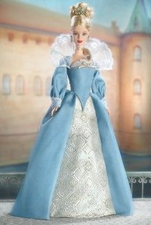Princess of the Danish Court Barbie, 2003. Part of my collection.