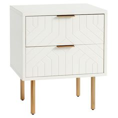 Jennings Statement Nightstand, Simply White, In-home. by Pottery Barn Teen Apartment Furniture, Living Room Furniture, Home Furniture, Furniture Design, Antique Furniture, Modern Furniture, Rustic Furniture, Furniture Removal, Furniture Layout