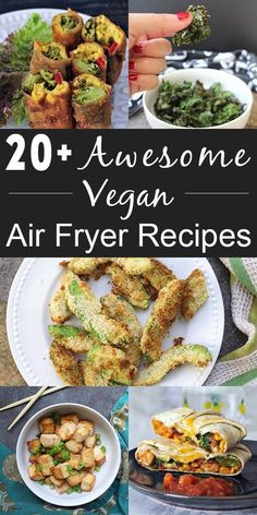 A growing list of vegan air fryer recipes, plus a little FAQ, in case you need help choosing or using your air fryer.