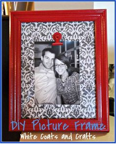 DIY Picture Frame - White Coats and Crafts