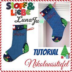 Stoff & Liebe: *** Tutorial + Schnitt für einen Nikolausstiefel ***