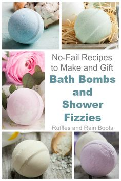 Bath Bombs and Shower Fizzies & NO-FAIL Recipes Bath Bombs and Shower Fizzies – NO-FAIL RecipesYou can make perfect bath bombs and shower fizzies with these bath bomb recipes and tips. Wine Bottle Crafts, Mason Jar Crafts, Mason Jar Diy, Shower Bombs, Bath Bombs, Homemade Beauty, Diy Beauty, Homemade Gifts, Diy Hanging Shelves