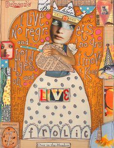 Nancy Baumiller - Original Mixed Media Collage