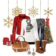 Christmas Style #3. The way I wish I dressed... minus that bag.