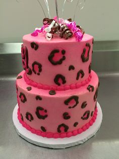 Pink Cheetah Print Cake by Stephanie Dillon, LS1 Hy-Vee