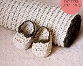 Crochet PATTERN (pdf file) - Choco Baby Blanket and Booties
