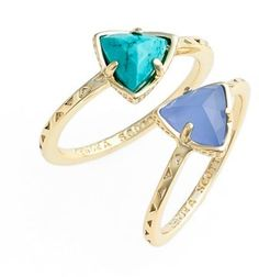 Kendra Scott 'Anna' Triangle Rings (Set of 2)