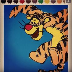 Tigger the tiger / A Character of Disney Cartoon WinniethePooh / Comics, Manga, Anime / 호랑이 티거 디즈니 위니더푸