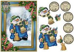 Snowman, Holly & Lantern
