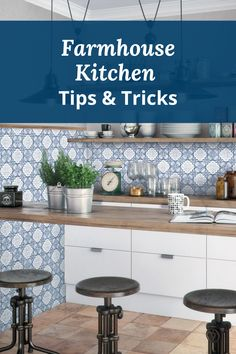 Time for a kitchen makeover? Check out out our Tips & Tricks to create the perfect Farmhouse kitchen. We cover everything from the ideal farmhouse lighting all the way down to the best kitchen floors for the Farmhouse aethetic!