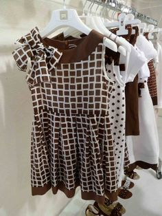 Super chic chocolate and white childrens wear from MiMisol for summer 2012