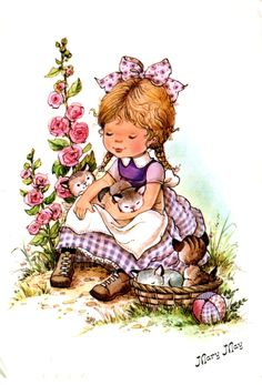 Qui était Mary May ? Holly Hobbie, Vintage Drawing, Vintage Art, Cute Images, Cute Pictures, Mary May, Cute Illustration, Cute Cards, Vintage Children