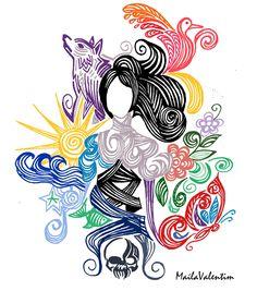 Desenho digital - inspirado nas Metamorfoses de Ovídio