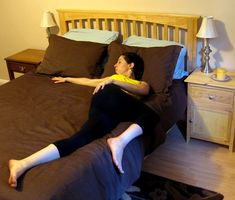 Bed time stretches to relieve aches and for a better nights sleep.