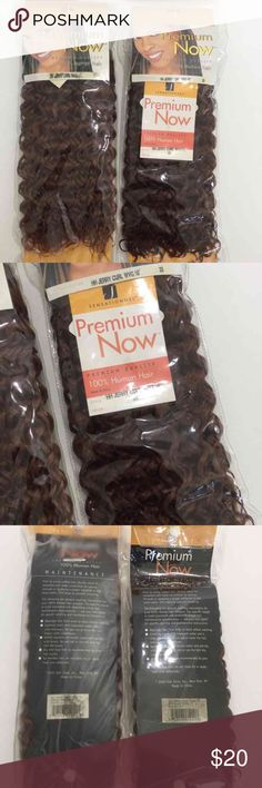 """2 for $20 New human hair curl weave New human hair weave.  2 packs, jerry curl weave 10"""". (Color 33). You will receive exactly what you see in picture. Other"""