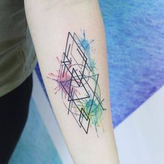 Abstract piece on the left inner forearm.