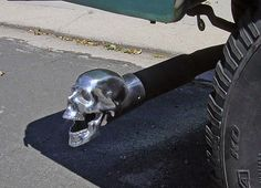Skull Exhaust Tip on my Ford