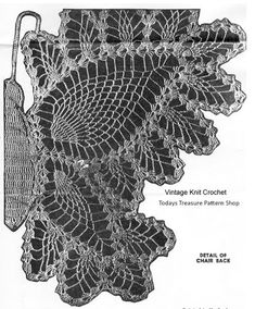 Crochet Pattern Stitch Illustration of a Butterfly wing - Chair Doily Pattern Set with chair back full butterfly; arm rests a single wing. Crochet Butterfly, Butterfly Chair, Butterfly Wings, Crochet Motif, Crochet Lace, Doily Patterns, Crochet Patterns, Fillet Crochet, Pineapple Design