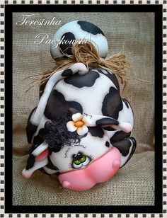 Teresinha Paczkowski: potes de biscuit countryn, polymer clay jar