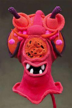 Brutal Knitting Monster Hats