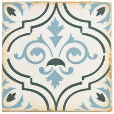 "EliteTile Arquivo 4.88"" x 4.88"" Ceramic Field Tile in Fleur De Lis"