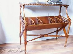 www.junkinjunky.blogspot.com  Faux Bamboo side table/console