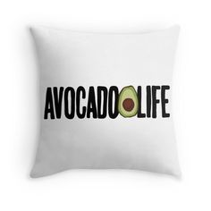 Avocado Life Throw Pillow