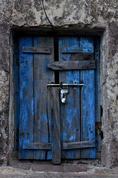 fabulous old blue door