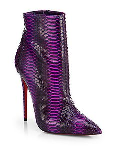 Christian Louboutin So Kate Watersnake Ankle Boots Pre-Fall 2014 #Louboutin #CL #Shoes