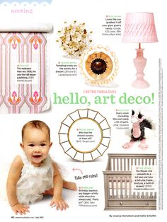 Knob Clear Flower Beads as seen in American Baby July 2013.