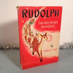 Vintage Rare Collectible Rudolph the Red-Nosed Reindeer Robert May Original 1939 Book Maxton Pub.