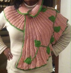 Final product Ivy capelet (collar down) #prettypearlsinc