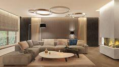 Rodzinny raj w domu w Warszawie 300 - Living Room Sofa Design, Living Room Tv, Living Room Interior, Living Room Designs, Grey Bathrooms Designs, Home Fashion, Interior Design Inspiration, Bedroom Decor, House Design