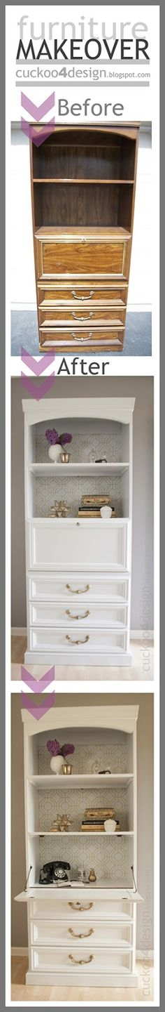 DIY bar or desk makeover - before and after by Cuckoo4Design