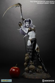 The Temptation of Lady Death Premium Format Figure is now available at Sideshow.com for fans of Lady Death comics and the powerful queen of Hell.
